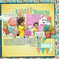 Layout using {Easter} Digital Scrapbooking Kit by Kristin Aagard Designs http://the-lilypad.com/store/Kristin-Aagard/ #digiscrap #digitalscrapbooking #kristinaagard #easter