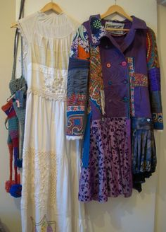Highland Fairy purple coat and wedding dress