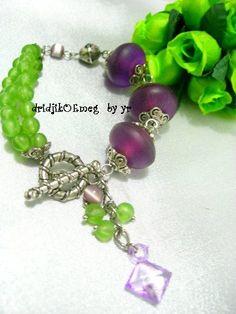 handmade #bracelet : resin bead / acrylic bead / glass bead / metal bead