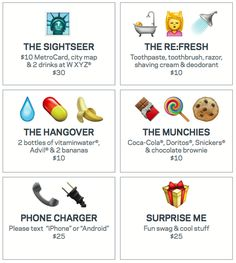 Upselling room service by using a novel ordering code based on emojis at Aloft hotels