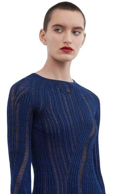 Acne Studios Marcy mouliné black / blue Basic sweater