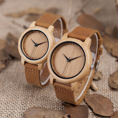 These uniquely designed and eco-friendly bamboo watches with genuine leather keeps you fashionable and environmentally supportive. Men's Watches, Cool Watches, Luxury Watches, Watches For Men Unique, Unique Gifts For Men, Wooden Watches For Men, Elegant Watches, Couple Watch, Wedding Men