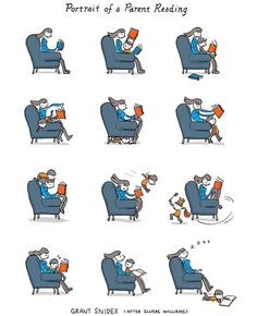 Here is a newest cartoon from our beloved Grant Snider (Incidental Comics). Reading Posters, Reading Books, Best Ipad, Speed Reading, Literary Gifts, Cartoon Kids, Reading Cartoon, Cartoon Jokes, Love Book