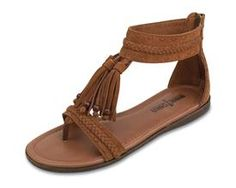 Minnetonka Belize Shoes, $50.00 or around that price range. These are super cute.