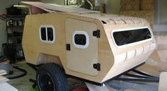 With a little welding and some wood work, you can have your own off road teardrop camper.