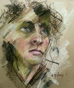 Sena Yıldırım - Soft Pastel Portrait #pastel #Portrait #art #artist #drawing #sanat #portre