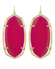 Danielle Earrings in Pink Agate. #KendraScott