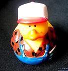 "Rubber Duck FARMER, Cap, Overalls, Farm, Duckie, NEW, 2"", Ducky, Gift Tie, Hot Tub"