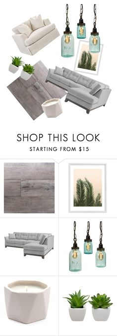 """Comfy Modern Living Room"" by meredithni ❤ liked on Polyvore featuring interior, interiors, interior design, home, home decor, interior decorating, Miseno, Wilder California, Illume and living room"