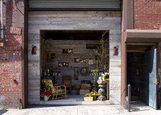 barn siding, flowers, soap, reclaimed, brooklyn, interior, architecture, design