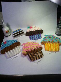 Perler Bead Cake & Cupcake Pins by NYClayBaker on Etsy