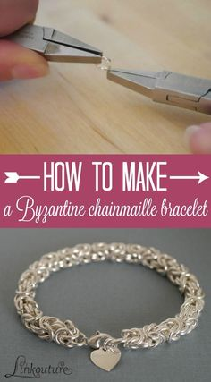Chainmaille isn't just for sword-wielding Medieval soldiers -- it also makes for a stunning modern piece of jewelry. Learn how to make your own Byzantine weave bracelet with this DIY jewelry tutorial. it makes for a perfect gift idea for someone special in your life!