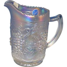 Imperial Carnival Glass Pitcher from big-red on Ruby Lane