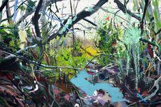 Jean-Xavier Renaud, Route de vaches 1, 2015, Oil on canvas, 130 x 195 cm, Courtesy Galerie Dukan | Galerie Dukan