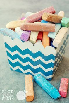 Just posted - metal chevron print tins!  You can use them as supply holders on a bookshelf, to hold community supplies in the middle of a table grouping, or even as little trash cans to catch all the scraps!  They are available in 4 colors, including the super popular gray chevron!  Work fast!  Remember, at PYP, when the stock is gone for the day, it is gone.  See the link below to check them out for yourself!  http://tracking.pickyourplum.com/SHGe