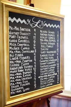 Chalkboard seating chart - SO EASY. Simple and easy to read! Chalkboard Seating Charts, Chalkboard Ideas, Chalkboard Wedding, Wedding Bells, Wedding Flowers, Wedding Stuff, Wedding Day, Let's Get Married, October Wedding