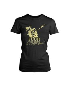 Married With Children Tv Show Polk High Football 4 Four Touchdowns In A Single One Game Bud Al Peg Kelly Bundy Ed O Neill Goat Women's T-Shirt Black French Nails, Ed O Neill, Married With Children, Kids Tv Shows, First Game, Perfect Woman, Mens Tees, Games For Kids, Bud