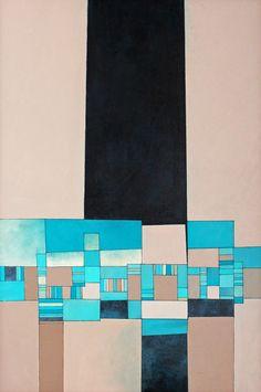 "Saatchi Online Artist: Deborah Batt;  ""Dwelling 10 "" acrylic on canvas"