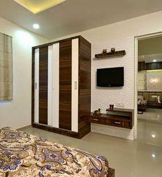 Best Wardrobe Design in India Bedroom Tv Unit Design, Tv In Bedroom, Modern Bedroom Design, Modern Kitchen Design, Best Wardrobe Designs, Door Draft, Wooden Wardrobe, Cupboard Design, Led Panel