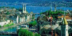 Largest city of Switzerland, Zurich (it's capital is Bern) is an incredibly beautiful leading global city and financial centre. Description from… Beautiful Places In The World, Places Around The World, The Places Youll Go, Travel Around The World, Places To See, Around The Worlds, Zurich, Romantic Honeymoon, France