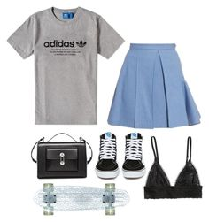 """Bad Bish Basics"" by emilykatephilip on Polyvore featuring adidas, Julien David, Vans, Balenciaga, H&M, women's clothing, women, female, woman and misses"