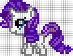 Filly Rarity My Little Pony Perler Bead Pattern / Bead Sprite