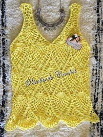 Fabulous Crochet a Little Black Crochet Dress Ideas. Georgeous Crochet a Little Black Crochet Dress Ideas. Débardeurs Au Crochet, Crochet Motifs, Crochet Shirt, Crochet Woman, Love Crochet, Beautiful Crochet, Easy Crochet, Crochet Stitches, Crochet Baby