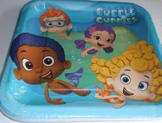 TOPSELLER! Bubble Guppies Square Dinner Plates 8 Ct $7.45