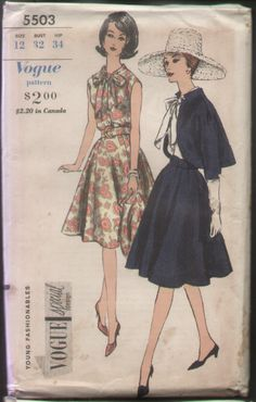 Vogue 5503 Special Design Mad Men Bolero Suit Pattern B32