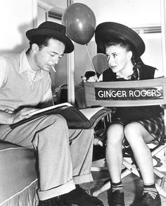 Ginger Rogers and Billy Wilder on the set of The Major and the Minor