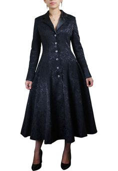 Brocade coat long