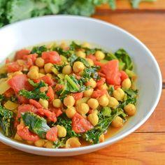 Chickpea Curry with Kale - Salu Salo Recipes