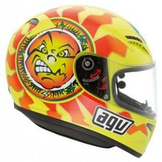 Awesome - AGV have just made the classic Valentino Rossi Sun & Moon helmet design from 1996 available in the AGV Grid range. Affordable prices too. Find out where to get it here - http://replicaracehelmets.com/product/valentino-rossi-agv-grid-sun-moon-helmet-1996/