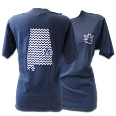 T-Shirt, Comfort Color Chevron State | Auburn University Bookstore