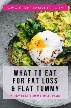 to Lose Belly Fat In 1 Week: Belly Fat Diet Plan flat belly diet plan to lose tummy fat and get a flat tummy. Flat Stomach Diet, Lose Tummy Fat, Flat Belly Foods, Flat Belly Recipes, Lose Fat, Diet Recipes, Healthy Recipes, Slimfast Recipes, Diet Meals