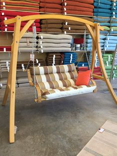 No trees. No problem. Get in the swing of things at The Backyard & Patio Store and Start Living Outdoors. Backyard Patio, Backyard Ideas, Patio Store, Hammocks, Porch Swing, Outdoor Furniture, Outdoor Decor, Outdoor Living, Trees
