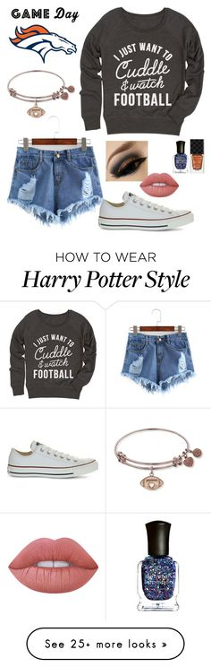 """""""Untitled #43"""" by socerk on Polyvore featuring Converse, Lime Crime, Gucci and Deborah Lippmann"""
