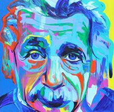 """Saatchi Online Artist Denisse Wolf; color Painting, """"Einstein"""" #art"""