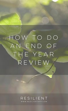With the year coming to a close, it's a great time to look back and review and reflect on everything that happened so you can make next year better. Here's how to do an end of the year review.