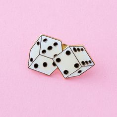 roll the dice vintage enamel lapel pin