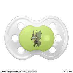Green dragon cartoon BooginHead pacifier