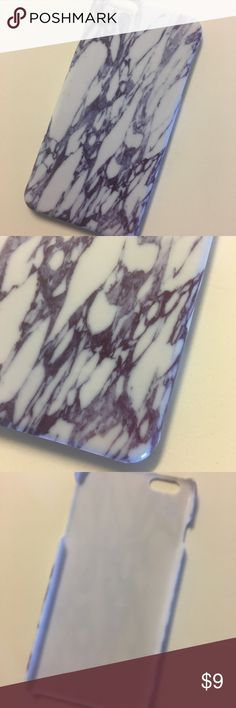 IPhone 6+ marble case Shiny purple marble plastic iPhone 6+ case. Very sleek and trendy!💟 Accessories Phone Cases