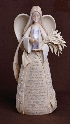 Psalm 23 Prayer Angel Figurine. One of the angels in my collection. I adore her so much!! by eileen