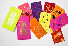 """Etiquette red packets series""""good news"""" 报喜利是封 on Behance"""