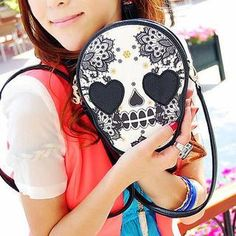 Buy 'TAIPEI STAR – Faux-Leather Skull-Print Cross Bag' with Free Shipping at YesStyle.co.uk. Browse and shop for thousands of Asian fashion items from Taiwan and more!