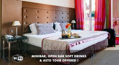 This hotel is located in Paris's chic district just 5 minutes on foot from the famous Champs Elysees. Hotel Paris, Four Poster Bed, Champs Elysees, Toddler Bed, Beautiful Places, Room, Elevator, Paris France, Wi Fi