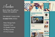 Arches Retro Blog Marketing WP Theme by CIAO Themes on Creative Market