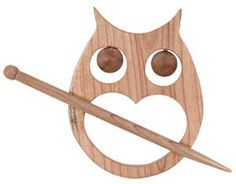Owl shawl pin - great for knitted and crocheted shawls or cardigans