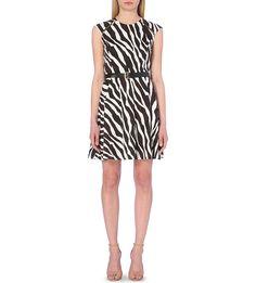 MICHAEL MICHAEL KORS - Ghanzi printed zipped raglan sleeve jersey fit and flare dress | Selfridges.com
