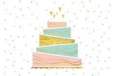 Birthday Cake. Wedding Card Templates